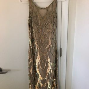 Stunning embellished nude and gold dress